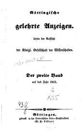 Göttingische gelehrte Anzeigen: unter Aufsicht d. Akademie der Wissenschaften, Band 117