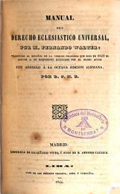 Manual del derecho eclesiástico universal