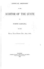 Annual Report of the Auditor of the State of North Carolina for the Fiscal Year Ending September 30 ...