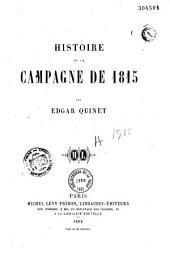 Histoire de la campagne de 1815