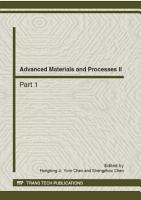 Advanced Materials and Processes II PDF