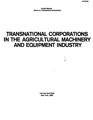 Transnational Corporations in the Agricultural Machinery and Equipment Industry