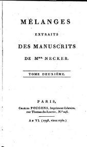 Mélanges extraits des manuscrits: Volume3