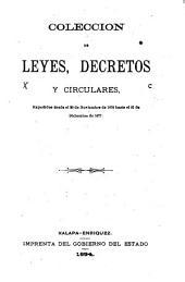Colección de leyes, decretos y circulares, expedidos desde el 20 de noviembre de 1876 hasta el 31 de diciembre de 1877