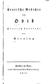 Erotische Gedichte des Ovid