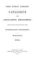 Catalogue of the Circulating Department PDF