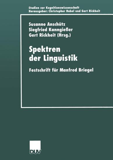 Spektren der Linguistik PDF