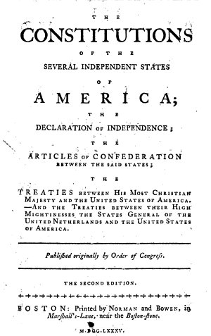 A Collection of the Constitutions of the Thirteen United States of North America  etc