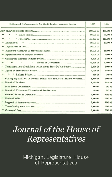Download Journal of the House of Representatives of the State of Michigan Book