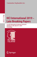 HCI International 2019 – Late Breaking Papers