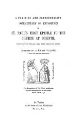 Ju N De Vald S Commentary Upon St Paul S First Epistle To The Church At Corinth Book PDF