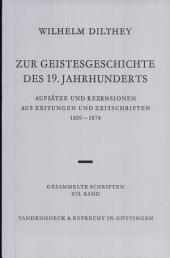 Zur Geistesgeschichte Des 19. Jahrhunderts: Aufsatze Und Rezensionen Aus Zeitungen Und Zeitschriften 1859-1874. Hrsg. Von Ulrich Herrmann, Teil 2