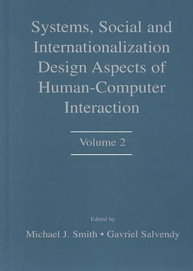 Systems  Social  and Internationalization Design Aspects of Human computer Interaction PDF
