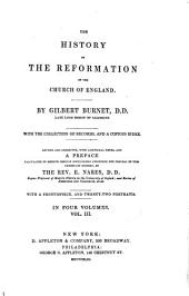 The History of the Reformation of the Church of England: Volume 3