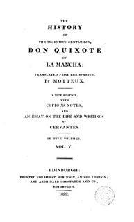 The History of the Ingenious Gentleman Don Quixote of la Mancha 5 Book