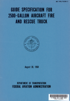 Guide Specification for 2500 gallon Aircraft Fire and Rescue Truck PDF