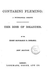 Contarini Fleming: a Psychological Romance: The Rise of Iskander
