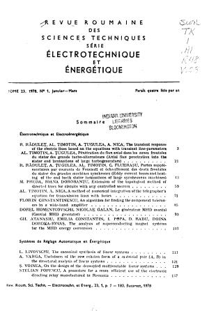 Revue Roumaine Des Sciences Techniques PDF