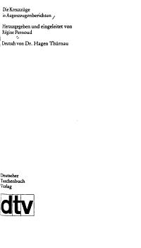 Die Kreuzz  ge in Augenzeugenberichten PDF