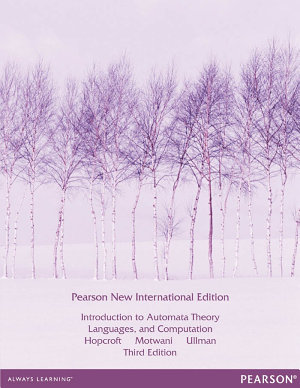 Introduction to Automata Theory  Languages  and Computation  Pearson New International Edition PDF