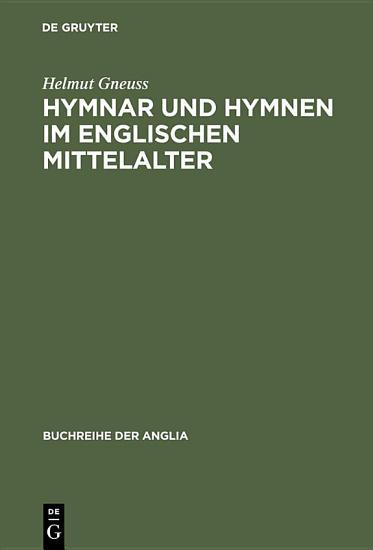 Hymnar und Hymnen im englischen Mittelalter PDF