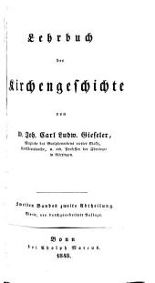 A Compendium of Ecclesiastical History: Volume 2, Part 2