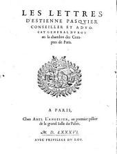 Les lettres d'Estienne Pasquier