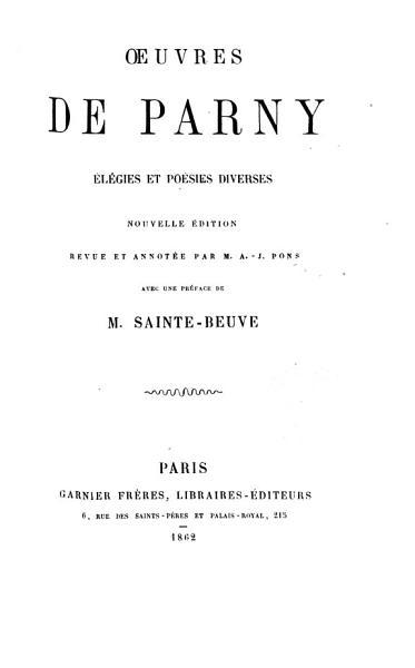 Download Oeuvres de Parney Book