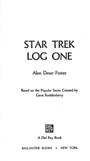 Star Trek Log One