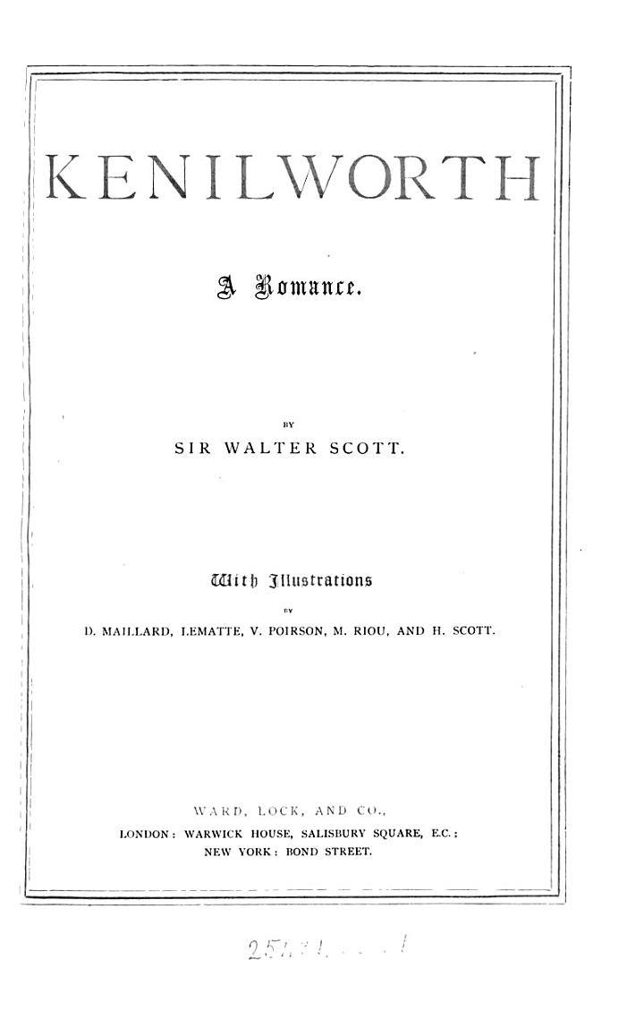 Kenilworth. With illustr. by D. Maillard [and others].