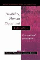 Disability  Human Rights and Education PDF