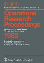 DGOR Papers of the 11th Annual Meeting Vorträge der 11. Jahrestagung