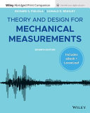 Theory and Design for Mechanical Measurements  Enhanced eText with Abridged Print PDF