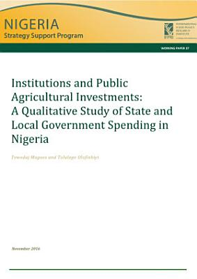 Institutions and public agricultural investments PDF