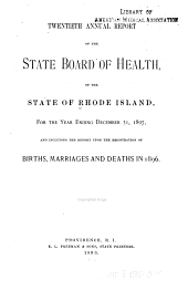 Annual report of the State Board of Health of the State of Rhode Island. 1897