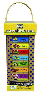 green start book towers  little vehicle books  10 Chunky Books Made from 98  Recycled Materials