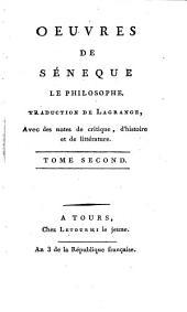 Oeuvres de Séneque le philosophe: Volume2