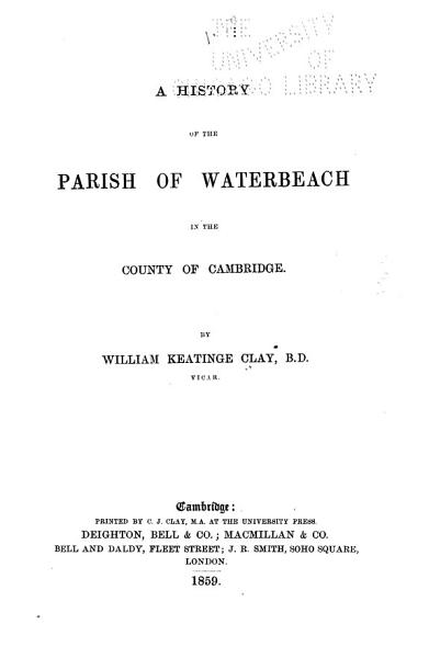 A History Of The Parish Of Waterbeach In The County Of Cambridge