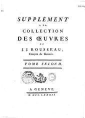 Collection complete des oeuvres de J. J. Rousseau, citoyen de Genève