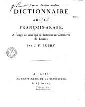 Dictionnaire abrégé françois-arabe