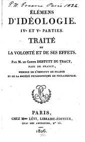 Élémens d'idéologie: Volumes4à5
