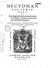 Necyomantia iurisperiti... Stephano Forcatulo Blyterensi... autore