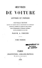 Oeuvres de Voiture: lettres et poésies