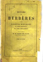 Histoire des Berbères et des dynasties musulmanes de l'Afrique Septentrionale: المجلد 4