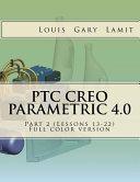 PTC Creo Parametric 4  0 Part 2  Lessons 13 22  PDF