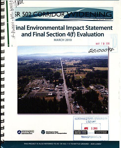 Download SR 502 Corridor Widening Project Book