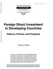Foreign Direct Investment in Developing Countries: Patterns, Policies, and Prospects, Volume 712