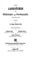 Neue Jahrb  cher f  r Philologie und Paedagogik PDF