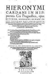 In Hippocratis Coi Prognostica ... Commentarii