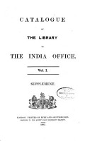 Catalogue of the Library of the India Office PDF